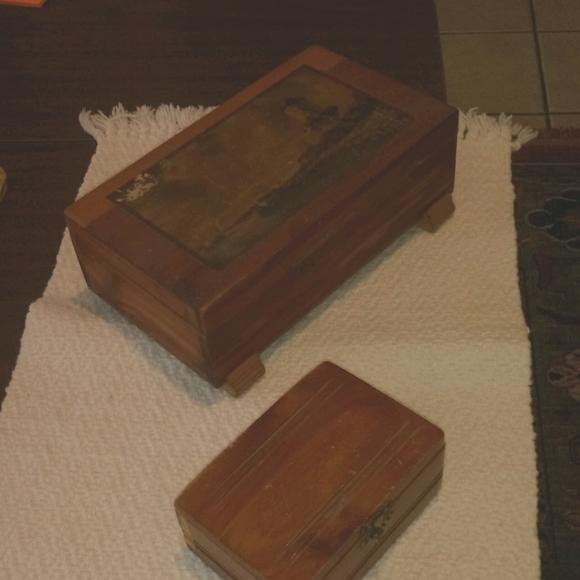 Two Vintage Cedar Boxes